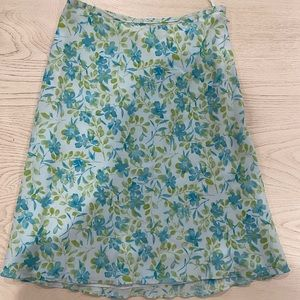 AMANDA SMITH PURE SILK SKIRT SIZE 6 BLUE AND GREEN
